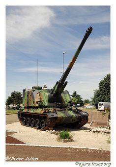 Automoteur d'Artillerie AU F1 155mm french Self powered Artillery System