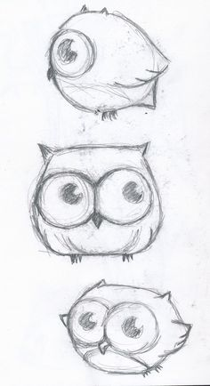 Drawing Doodles Sketches Cute little owl drawing - Maybe a tattoo? Doodle Drawings, Doodle Art, Drawing Sketches, Pencil Drawings, Drawing Ideas, Cute Owl Drawing, Drawing Animals, Sketching, Cute Little Drawings
