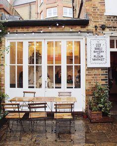 Coffee shop in rainy London, UK