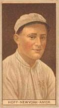 8 May 1891-17 September 1998: Chester 'Red' Hoff: LHP in pro ball 1911-1918,     New York Highlanders/Yankees (1911–1913)     St. Louis Browns (1915)//made his major league debut on September 6, 1911. Pitching against the Detroit Tigers, he struck out the first batter he faced, Ty Cobb//  http://www.nytimes.com/1993/10/01/sports/baseball-ty-cobb-batted-here-and-struck-out.html  --------