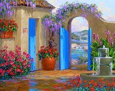 Risultati immagini per pinturas de flores