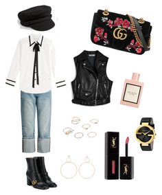 """""""Gucci"""" by jsmithswiss on Polyvore featuring Mode, Gucci, Frame, Marc Jacobs, Mulberry, Sacred Hawk, Natasha Schweitzer, MANGO und Yves Saint Laurent"""