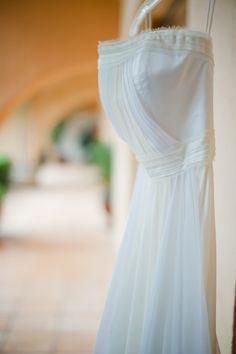 style me pretty - real wedding - mexico - puerto vallarta wedding - casa garza blanca - bride - getting ready - wedding dress