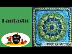 Tropical Delight - Crochet Square - YouTube