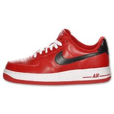 d69700dc303 Nike Women s Air Force 1 Low - Gym Red Black White Nike.  75.00