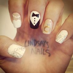 Wedding Nail Art! I'll do this for my wedding
