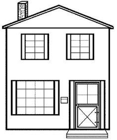 Используйте это изображение домика для того, чтобы распечатать на цветных  листах используя черно белый. Kostenlose ...