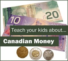 Looking for some resources and materials to help teach your kids about Canadian money? Here's a compilation of worksheets and tools for you to us Money Activities, Math Resources, Money Games, French Resources, Teaching Money, Help Teaching, 3rd Grade Math, Grade 3, Math Enrichment