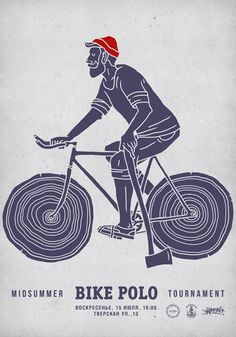 Bike Polo Illustration Poster