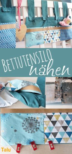 Bed utensilo sewing: free pattern for a beautiful bed bag Sewing Dress, Diy Bebe, Baby Supplies, Toy Rooms, Bullet Journal Ideas Pages, Small Furniture, Sewing Projects, Sewing Tutorials, Sewing Tips