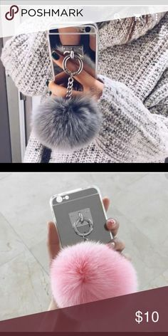 iPhone case for Marissa 6s plus. iPhone case in silver with fur tassel. Available for iPhone 5, 6 and 6 plus. INTERESTED⁉️ Comment below with phone size if you would like to be notify when it's in stock‼️Available in grey and pink. SERIOUS BUYERS ONLY FOR PRE-ORDERS Accessories Phone Cases