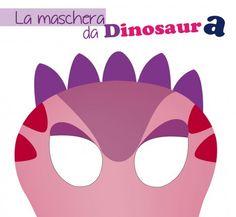 maschera da dinosauro per bambine