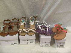 Tommy Hilfiger Size 8 Brand New with Box 4 pairs    Includes:    1 Color Brown LL, Style Tw Lanniely Fly Flaps +     1 Color Dark Blue LL, Style Tw Starlite Sandals +    1 Color Brown Multi LL, Style Tw Sole2 Sandals +    1 Color Natural LL, Style Tw Fierce2 Sandals.