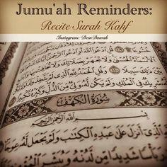 Jummah Reminders: Recite Surah Khaf
