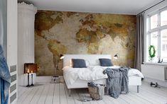 Ideas para decorar con mapas     DECOFILIA.com