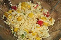 Curry - Reissalat mit Mais und Paprika (Rezept mit Bild) | Chefkoch.de