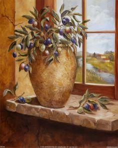 Ελιά – Astropeleki – Just another star in the webSky Tole Painting, Watercolor Paintings, Olive Style, Greek Art, Aesthetic Art, Flower Prints, Still Life, Cool Art, Art Prints