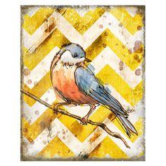 Bird On Branch Wall Art I
