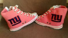 d4c6eb498 New York Giants High Top Converse Sneaker Slippers