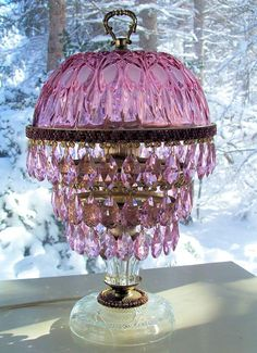 65 Best Vintage Crystal Prism Lamps Images Antique