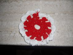 flower of wool hand made