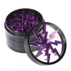 "GoFriend® 4-Piece 2.5"" Tobacco Spice Herb Weed Pollen Plant Grinder Crusher Smoke Grinders with Pollen Catcher & Pollen Scraper (Purple) - http://bestmetaldetector.co/gofriend-4-piece-2-5-tobacco-spice-herb-weed-pollen-plant-grinder-crusher-smoke-grinders-with-pollen-catcher-pollen-scraper-purple/"