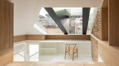 *다락방 리모델링 Con Form Architects opens up loft with a glass and steel dormer Direct Wood Flooring, Japanese Living Rooms, Steel Cladding, Architects London, Retro Living Rooms, Dormer Windows, Residential Architect, Hip Roof, Bright Homes