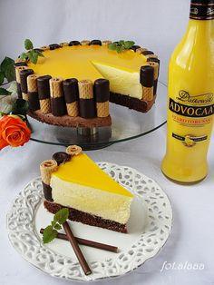 Ala piecze i gotuje: Tort adwokatowy Polish Desserts, Polish Recipes, No Bake Desserts, Dessert Recipes, Cupcake Cake Designs, Cupcake Cakes, Pastry Recipes, Cookie Recipes, Sandwich Cake