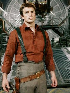 Only Nathan Fillion could find a way to make that outfit look attractive!