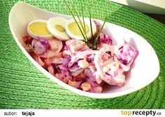 Salát z červené řepy s vajíčkem recept - TopRecepty.cz Potato Salad, Cabbage, Salads, Potatoes, Vegetables, Ethnic Recipes, Fit, Shape, Potato