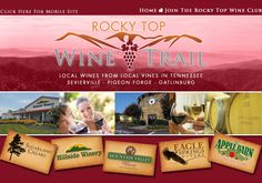 TN- The Rocky Top Wineries: 5 wineries within 12 miles. in the Great Smoky Mountains!