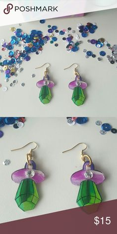 Ring pop earrings with bling Brand new and handmade , never actually worn. Made to sell to one of you lovely people ???? happy poshing! YUNI Jewelry Earrings