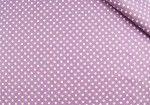 Tkanina bawełniana - Groszki fioletowe 588