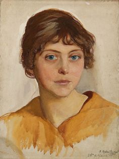 Portrait of a young Woman by  Zinaida Serebriakova (1884~1967), who was among the first female Russian painters of distinction