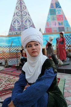 A Kyrgyz woman.
