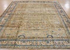 9 x 12 ANTIQUE PERSIAN MALAYER Tribal Hand Knotted Wool BEIGE Fine Oriental Rug #AntiquePersianMalayerTribal