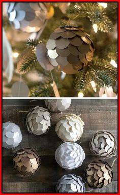 Wunderbar 20 Selbstgemachte Ornament Ideen, Um Ihren Weihnachtsbaum Zu Verbessern