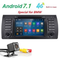 Free Shipping camera7' HD Android 7.1 1 din car dvd player auto navigation For BMW E39 E53 X5 M5 gpsradio BT SWC DAB+ WIFI OBD2  #Affiliate