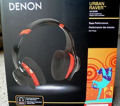Denon Urban Raver #On-Ear #Headphones in red: compatible #Android and #iOS devices. It allows you to create, store, and share custom EQ curves as well as listen to #internet #radio #stations and access song lyrics. Control Wheel can provide control for play, pause, answer, and hang up functions in #iPod, #iPhone, and #iPad devices. Buy It Now $199.99, or Best Offer!