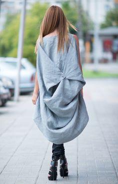 61b8ec66f Asymmetrical summer tunic made of linen - TU0475LE – shop online on  Livemaster with shipping - IOUDXCOM | Sofia
