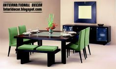 modern Italian dining room furniture ideas, green dining room furniture design