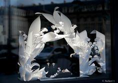 Décoration vitrine en papier