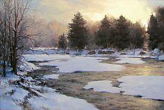 Mark Boedges Painting Snow, Winter Painting, Sketch Painting, Watercolor Artwork, Winter Art, Watercolor Landscape, Artist Painting, Landscape Art, Landscape Paintings