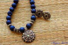 Starlit Silver Druzy Beads Necklace
