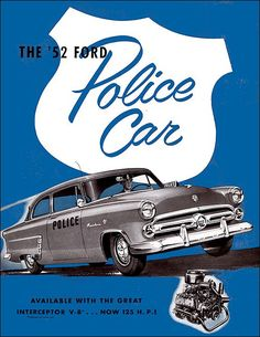 86 best vintage car ads images in 2019 antique cars, carford police cars brochure (1952) old police cars, ford police, american