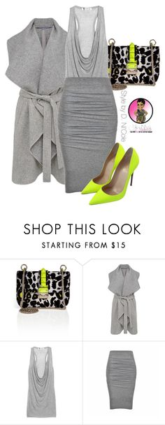 """Untitled #2723"" by stylebydnicole ❤ liked on Polyvore featuring Valentino, French Connection, T By Alexander Wang, Ally Fashion and Christian Louboutin"
