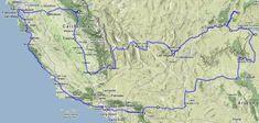 Rundreise USA Westküste Reise Von Hollywood ins Land der Canyons Karte