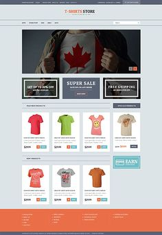 T-Shirts Online Store #Virtuemart #template. #themes #business #responsive