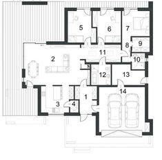 DOM.PL™ - Projekt domu PPE PRZEJRZYSTY D27 CE - DOM EG1-19 - gotowy koszt budowy Beautiful House Plans, Beautiful Homes, Model House Plan, Small House Design, Home Design Plans, Cabana, Home Projects, Planer, My House