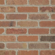 Old Mill Thin Brick Systems ft Box Smooth Dixie Clay Brick Veneer- faux brick wall for the sunroom Thin Brick, Faux Brick, Exposed Brick, Brick Face, Tile Saw, Fire Clay, Brick Colors, Adhesive Tiles, Retro Renovation